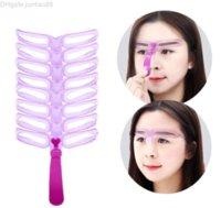 Réutilisable 8 Modèle de mise en forme de sourcils à sourcils à sourcils à sourcils à sourcils Kit de toilettage de la carte de toilette définissant les outils de maquillage