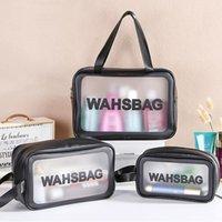 Storage Bags 1PCS Transparent Zipper Cosmetic Bag For Women Travel Waterproof Wash Toiletry Makeup Organizer Case