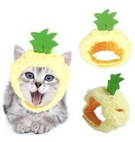 Cat Costumes Pet Hat Pineapple Headdress Halloween Headgear Costume Cute Apple Shape For Dog Cap Cosplay Product Supplies