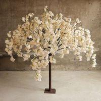 Yeni Varış Kiraz Çiçekler Ağacı Simülasyonu Sahte Şeftali Düğün Parti Masa Centerpieces Süslemeleri Için Dilek Ağaçları