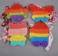 Fidget لعبة للبنات هدية أكياس سيليكون أكياس الإجهاد الإغاثة لعبة الضغط لعب rainbowbag دفع فقاعة ماكياج حقيبة الكتف