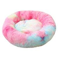 Multi-Color Pet Pet Cachorro Cama confortável Pet Soft Round Bed Round Tap The Washable Respirável Warm Indoor Uso de suprimentos para animais de estimação