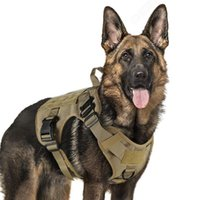 Dog Collars & Leashes Military Tactical Harness K9 Working Vest Nylon Bungee Leash Lead Training Running For Medium Large Dogs German Shephe