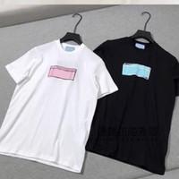Mulheres camisetas Homens Casual Verão Carta Impressão Das Mulheres Moda Moda Moda T-shirt 2021 Alta Qualidade Streetwear Branco Preto Clássico Novo Quente