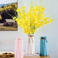 Künstliche Orchidee Blumen 5 Zweig Hohe Qualität Seide Oncidium Hybridum Dancing-Puppenorchideen für Haus Hochzeit Garten Dekor 8 Farben