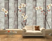 Wallpapers Custom Wallpaper American Style 3D Solid Marble Brick Wall Vector Meticulous Flower And Bird Background Decoration Painting