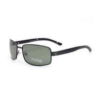 Ретро поляризованные роскошные мужские дизайнерские солнцезащитные очки полная рамка позолоченные квадратные рамки бренда солнцезащитные очки модные очки с корпусом