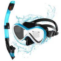 Bambini Professionali Occhiali da nuoto Dry Snorkel Snorkel Set Anti-fog Goggles per Scuba Snorkel Piscina Tube Tube Diving