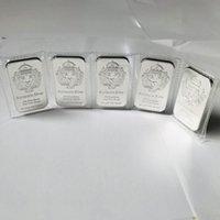 50 ADET Olmayan Manyetik Para Cradt Amerikan Scottsdale Aslan Kafası 1 OZ Rozeti Gümüş Kaplama Külçe Külçe 5.0 x 2.8 cm Vakum Mühürlü Ambalaj Dekorasyon Hediye Hatıra Bar