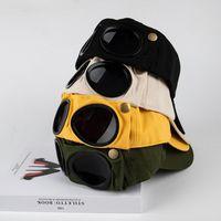 Geniş Ağız Şapkalar 1 adet Şapka Yaz Gözlük Beyzbol Kap Kadın Unisex Güneş Gözlüğü Erkek BeyzbolCap