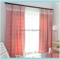 Curtain Drapes Deco El Supplies Home & Gardenmodern Simple Embroidered Childrens Shading Curtains For Living Dining Room Bedroom. Drop Deliv