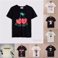 Gucci Neue Womens Herren Designer T-shirts T-shirts Mode Brief Druck Kurzarm Dame Tees Luxurys Freizeitkleidung 21ss T-shirts Kleidung 2021