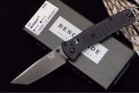벤치 메이드 BM537 축 D2 블레이드 포켓 접이식 나이프 나일론 유리 섬유 핸들 전술 사냥 낚시 EDC 서바이벌 도구 칼 A3077