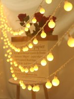 Украшение партии Stargirl 1,5 м 3 м 6 м Фея гирлянды светодиодные шариковые струнные огни водонепроницаемые для рождественской свадьбы дома крытый батареи