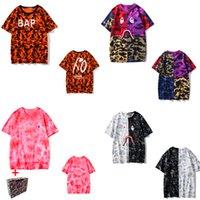 Женская футболка 2021 Высокое Качество Мода Топ Летние Повседневные Мужчины и Женщины Пара Полукайв Лав голова Маленькая Вышитая Акула Футболка