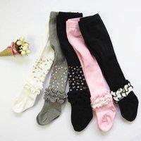 Flickor Leggings Babybyxor Bomullstrumpor Barnkläder Höst Vinterbarn Pantyhose Använd stora strumpor Prinsessan kläder B6676