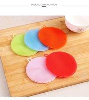 Cucina multifunzionale Spazzola per lavastoviglie Silicone Silicone Cassaforte Non-stick Materiale Oletico Salviettine Isolanti di calore Pads Coasters Brushes Pots Lla7428
