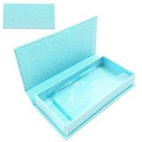 Nouvelle boîte bleue bleue Faux 3D Mink Cils Boxes Faux Cils Magnetic Case Chaussures Boîte vide