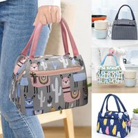 Hanging Baskets Portable Lunch Bag Thermal Insulated Universal Box Handbag Print Pouch Dinner Container School Food Storage Bags L*5