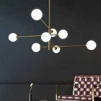Nordic Glass Ball Led Ceiling Chandelier Pendant Lamps Black Gold Living Rroom Table Dining Kitchen Fixture Home Decor Indoor Lighting