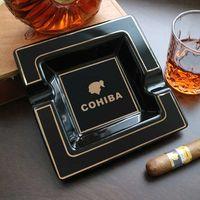 Cohiba Classic Ceramic Cigar Aschenbecher Home Zigarrenhalter Gadgets Tragbare Reiseasche Slot Tabak Zigarettenzubehör 210724