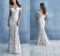 Applique Lace Mermaid Wedding Dresses Off The Shoulder Bridal Gowns Low Back Lady Sweep Train Robe de Marriee