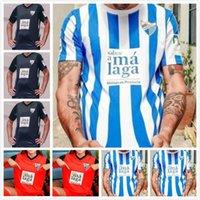 21 22 Malaga Soccer Jerseys 2021 2022 Jairo Luis Munoz Jozabed إسماعيل كرة القدم قميص المنزل Juankar Camiseta de Futbol CF Juande