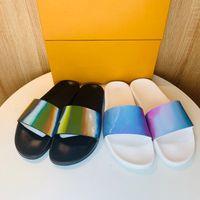 Дизайнерские флопы мужские женские летние сандалии пляжные слайд тапочки дамы сандали фирмы да донна классические лазерные красочные