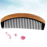 Hair Brushes Horn Comb Teeth Wide Tooth Detangling Anti-Static Long Combs Natural For Thick Curly And Wavy Reduce B