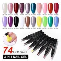 Nicole Diario 3 in 1 Unghie Step Nail Vernice Pen Solid Color Nail Gel UV Polish 72 Colori Facile da usare Gel UV Polish Liquid