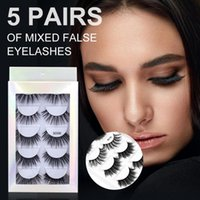 False Eyelashes Five Pairs 5D Mink Faux Lashes Pack Natural Long Thick Eye Gifts For Women Makeup Tools