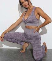 Tasarımcı V Yaka Seksi Bayan S Takım Gymshark Sportwear Tracks Kamuflaj Gym Iki Parçalı Set Sutyen Tayt Pantolon Eşofman