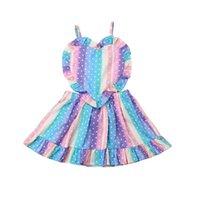 Girl's Dresses Summer Loverly Baby Girl Heart Polka Dot Dress Sleeveless Ruffle Dream Romper Princess Party Sundress Children Vestidos