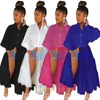 Vestidos Casuais Design Chic Plus Size Longo Blusa Mulheres de Autumn Sleeve Patchwork Sheer Malha Festa Night Club Vestidos Africano Camisa