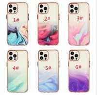 Shockproof Hybrid TPU Transparen cases Electroplating Fantasy Watercolor Xinghai Marble phone case for iphone13 12min 11 X XR XS 7 8 plus