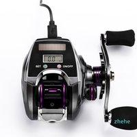 Reel de pesca electrónico Contador Pantalla digital Baitcasting 8.0: 1 Relación de alta velocidad Línea de perfil PESCA