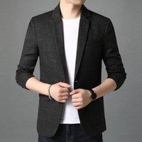 Men's Suits & Blazers Men Buit Classic Solid Color British Retro Blazer Suit Jacket Casual Slim Fit Jaqueta Masculina