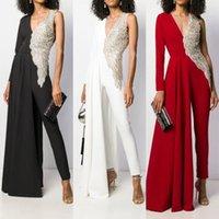 Mode Frauen est Womens Overalls Asymmetrische Design Tiefem V-Ausschnitt Hohe Taille Slim Night Party Kleid Bodysuit
