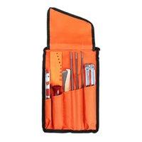 Professional Hand Tool Sets 10pcs Set Chainsaw Chain Sharpening Kit Set Hardwood Handle Round Flat File Guide Bar Sharpener Tools