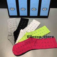 Luxe Beş 2021 Çorap Tasarımcı Çifti Erkek Bayan Spor Kış Mesh Mektubu Baskılı Kaplan Kurt Kafa Çorap Nakış Pamuk XHCO1R