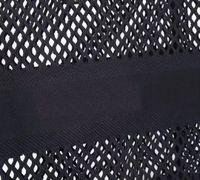 Libro stile originale Tote Black Blue Blue Maglia Ricamo Shopping Bag Openwork Handbag Original Canvas Tote Big Capacity Trip Packbag Bookbag