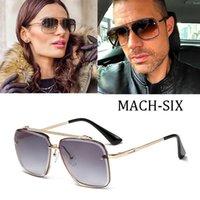 2021 Design Mode Mach Sechs acht acht Stil Gradientenlinse Sonnenbrille Männer Vintage Marke Sonnenbrille Randlos