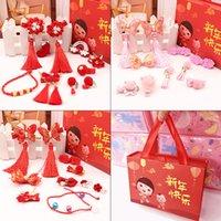 Estilo chino Año Nuevo Regalo Niña Niña Caja de regalo de horquilla Accesorios para el cabello Anillo de pelo Caja de cumpleaños Caja de tarjeta 60 Y2