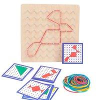 Kauçuk Toe Tırnak Geoboard Kartları ile Matematik Öğrenme Eğitim Çocuk Oyuncak Kullanımı Kauçuk Bant Farklı Şekil Tırnak Kurulu H1009 yapmak için