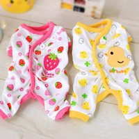Dog Apparel Embroidery Pet Cotton Cute Pajamas Pyjamas Puppy Jumpsuit Casual Clothes Costume Gift
