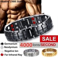 Pulseiras dos homens de Yutong Energia Magnética Tourmaline Pulseira de Saúde Jóias para Mulheres Bangle Slimming Product