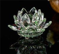Portacandele di vetro di cristallo Lotus Portacandele Flower Candela Tea Tipo di luce da tè 30mm Tealight Buddhist Weddhist Bar Party DWWE5070