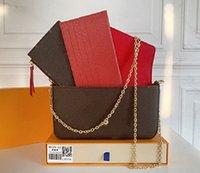 Роскошные дизайнерские сумки Felicie 3-х частей цепные мешки дамы сумка сумка сумка сумка сумка сумка кошельке мобильного телефона мешок бесплатная доставка