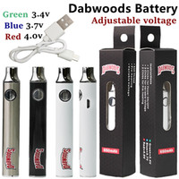 DABWOODS Battery vape cartucce 650mAh VV VAPA VARIABILE 510 Batterie filettatura E Sigaretta SS Carrelli olio Carrelli regolabili Preriscaldamento con cavo del caricatore USB