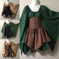 2021 Kleider Partei Europäische und amerikanische langärmelige Frauen Renaissance mittelalterliche Kleidungskostüme